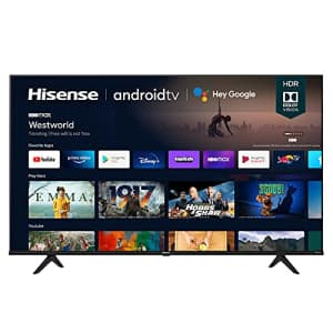Hisense 65A6G 65-Inch 4K Ultra HD Android Smart TV with Alexa Compatibility (2021 Model) for $560