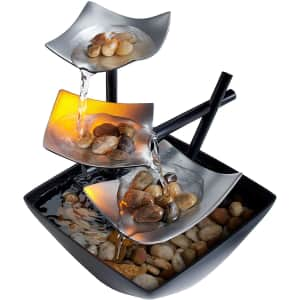 HoMedics Indoor 3-Tier Relaxation Tabletop Fountain for $17