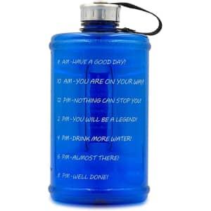 Half-Gallon BPA-Free Motivational Water Bottle for $7