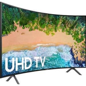 Samsung UN55RU7300FXZA Curved 55 inches 4K UHD 7 Series Smart TV (2019) (Renewed) for $569