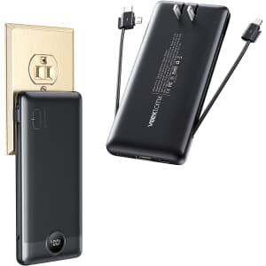 Veektomx Portable Charger w/ Cable and AC Wall Plug for $19
