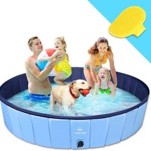 """TantivyBo XL 63"""" Foldable Dog/Kiddie Pool for $32"""