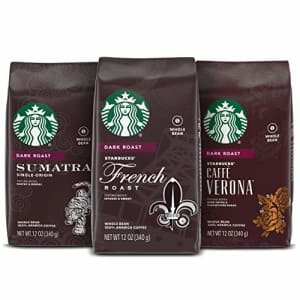 Starbucks Dark Roast Whole Bean Coffee Variety Pack 3 bags (12 oz. each) for $46