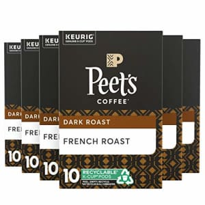 Peet's Coffee French Roast, Dark Roast, 60 Count Single Serve K-Cup Coffee Pods for Keurig Coffee for $13