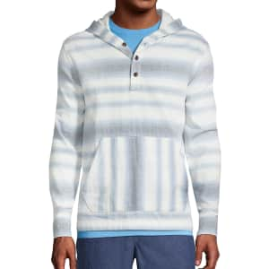 Lands' End Men's Double Cloth Pullover Hoodie for $14