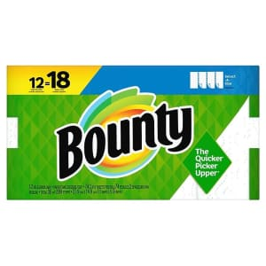 Bounty Select-A-Size Singles Plus Paper Towel 12-Pack for $17 via auto restock