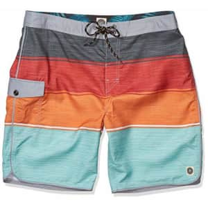 """Rip Curl Men's Time 20"""" Board Shorts, Red 18, 40 for $12"""