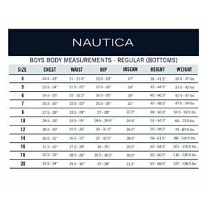 Nautica Slim Boys' Uniform Flat Front Twill Short, Navy, Small/10/Slim for $5