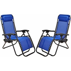 BalanceFrom Adjustable Zero Gravity Lounge Chair Recliners for Patio for $98