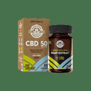Manitoba Harvest 50mg CBD 30-Count Softgels: 5 for $30