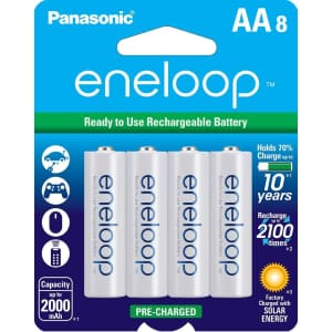 Panasonic eneloop NiMH Rechargeable AA-Battery 8-Pack for $19