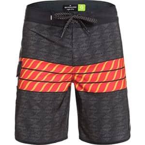 Quiksilver Men's Standard Highline HI Variable SCALLOP19 Boardshort Swim Trunk, Black, 28 for $57
