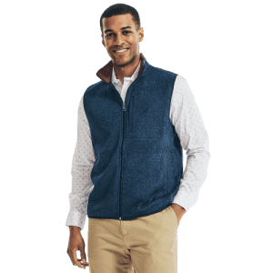 Nautica Men's Performance Knit Fleece Vest for $22