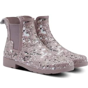 Hunter Women's Original Refined Particle Print Waterproof Chelsea Boots for $80