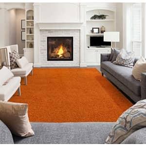 "Ottomanson Collection shag area rug, 5'3"" x 7', Orange for $177"