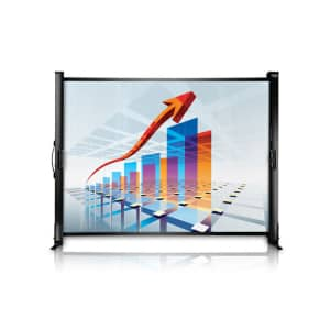 Epson ES1000 Ultra Portable Tabletop Projection Screen for $75
