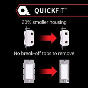 GE Enbrighten Z-Wave Plus Smart Light Switch, QuickFit & SimpleWire, Commercial 120/277VAC, Works for $43