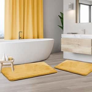 Clara Clark Memory Foam Bath Mat Sets 2 Piece - Non Slip, Absorbent, Soft Bath Rug Set - Fast for $27