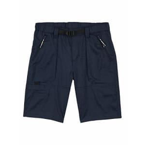 Wrangler Boys' Straight Fit Outdoor Shorts, Midnight Blue Heather, Large for $14