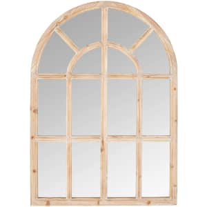 Stone & Beam Vintage Farmhouse Wooden Arched Mantel Mirror for $110
