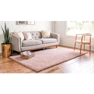 Unique Loom Davos Collection Modern Luxuriously Soft & Cozy Shag Area Rug, 4' 0 x 6' 0 Rectangular, for $32