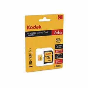 Kodak 32GB Class 10 UHS-I U1 microSDHC Card with Adapter for $10