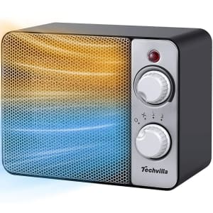 Techvilla 2-in-1 Small Space Heater for $23
