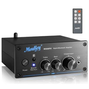 Moukey Bluetooth Amplifier for $64