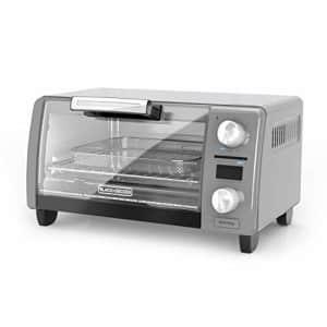 "Black + Decker BLACK+DECKER TOD1775G Crisp N Bake Air Fry Digital Toaster Oven, 9"" Pizza or 4 Slices of Bread, Gray for $62"