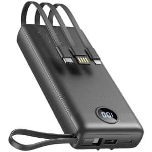 Veektomx 20,000mAh Ultra Slim USB C Power Bank for $18