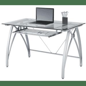 """Realspace Vista 48"""" Glass Computer Desk for $110"""