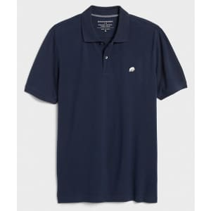 Banana Republic Factory Men's Slim-Fit Pique Polo Shirt for $15 in cart