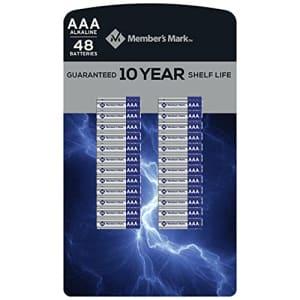 Member's Mark Alkaline AAA Batteries (48 Pack) for $37