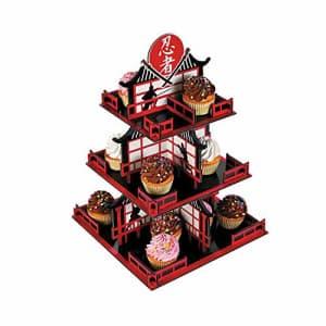 Fun Express Ninja Cupcake Stand (3 tiers) Ninja Birthday Party Supplies for $13