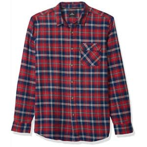 Rip Curl Men's Big Boys' Salt Water Culture Check Long Sleeve Shirt, Washed Red, M for $53