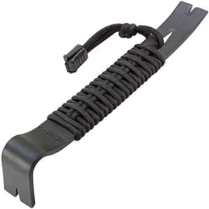 Schrade SCHPB1BK 7.5in Pry Bar with High Carbon Steel Construction and 550 Paracord Handle for for $16