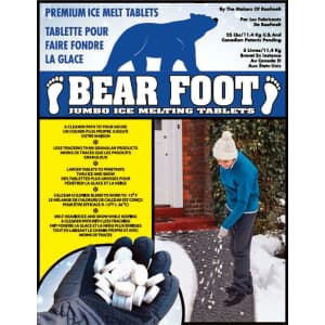 BearFoot Sodium Chloride and Calcium Chloride Tablet Ice Melt 25-lb. Bag for $13