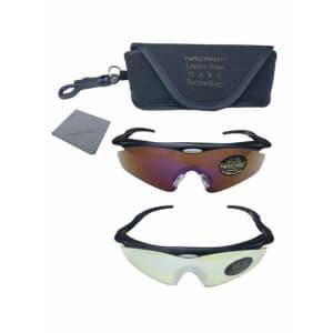 NasTek UV Sport Sunglasses w/ UV Interchangeable Lenses for $9
