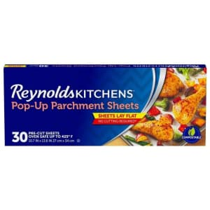 Reynolds Kitchens 30-Count Pop-Up Parchment Paper Sheets for $2 via Sub & Save