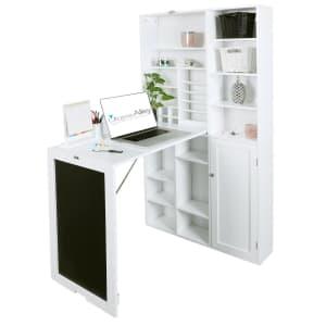 Utopia Alley Wide Fold-Down Desk w/ Storage & Chalkboard for $192