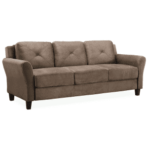 Lifestyle Solutions Harvard 4-Seater Microfiber Sofa for $233