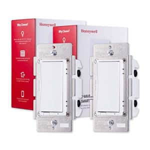 Honeywell UltraPro Z-Wave Plus Smart Light Switch 2-pack, In-Wall White & Almond Paddles   Built-In for $165