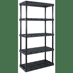 """Gracious Living Knect-A-Shelf 72"""" Resin Shelving Unit for $40"""