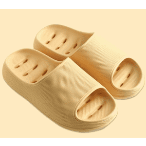 Tiosebon Women's Bathroom Slippers with Drainage Holes for $7