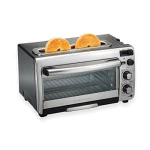 Hamilton Beach 2-in-1 Countertop Oven and Long Slot Toaster, Stainless Steel, 60 Minute Timer and for $119