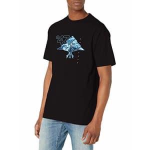 LRG Men's Short Sleeve Logo Design T-Shirt, Mountain High Black, L for $21