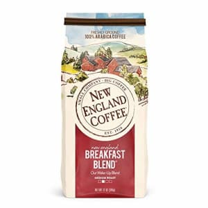 New England Coffee New England Breakfast Blend, Medium Roast Ground Coffee, 12 Ounce (1 Count) Bag for $9