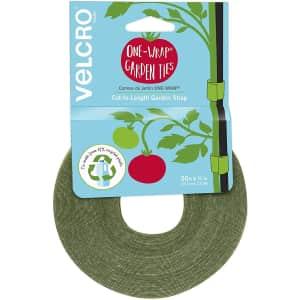 "Velcro 50' x 1/2"" One-Wrap Garden Ties for $4"