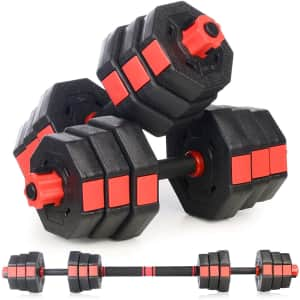 Partrisee Adjustable Dumbbell and Barbell Set for $60
