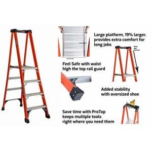 Louisville Ladder FXP1804HD Fiberglass Pro Platform Ladder, Type IAA, 375-Pound Load Capacity, for $265